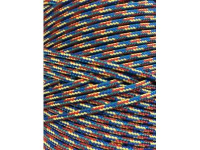 Верёвка плетёная полиамидная с сердечником (крашеная) 4 мм