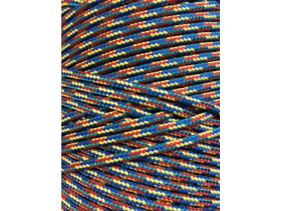 Верёвка плетёная полиамидная с сердечником (крашеная) 5 мм