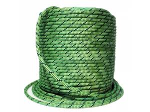 Коломна веревка статическая D-10,5 мм 32-прядная зелено-желтая